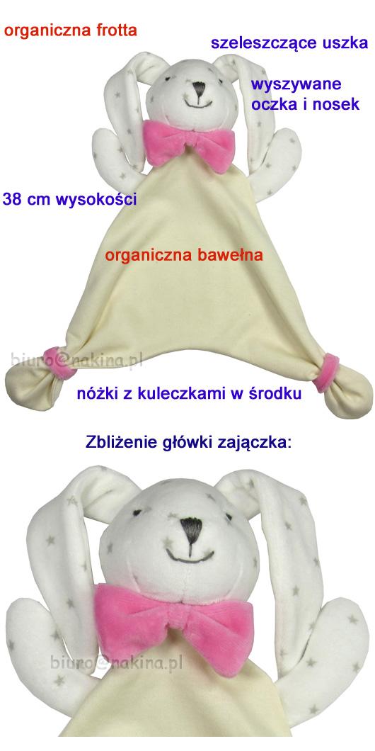 Duża przytulanka z bawełny organicznej